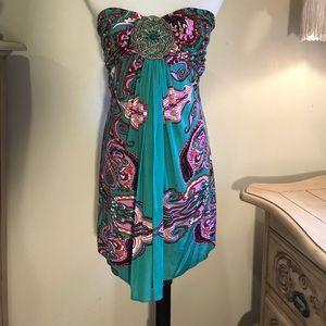 Sky strapless dress